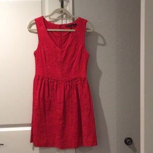 Zara red lace dress